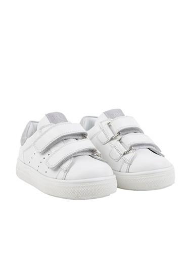 Kids A More Papillon Çift Cırtlı Deri Kız Çocuk Ayakkabı  Beyaz